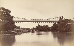Suspension bridge at Dacca, erected in 1830.